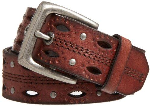 Carhartt Women's Dearborn Studded Leather Belt, Brown, Mediu