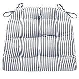 Barnett Home Decor Ticking Stripe Blue Dining Chair