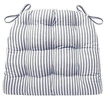 Amazoncom Barnett Products Ticking Stripe Dark Blue Dining Chair