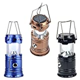 SHOPZIE The Newest Style Solar Lamp or LED Lalten Classic Flashlight Camping Solar Light for Home, Rechargeable LED(6+1) Shop Light Portable Torch Waterproof Outdoor Lighting