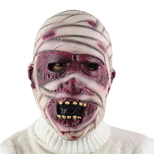1 Piece Halloween Horror Zombie Mummy Mask Terror Decoration Props Eco-friendly Latex For Adults]()
