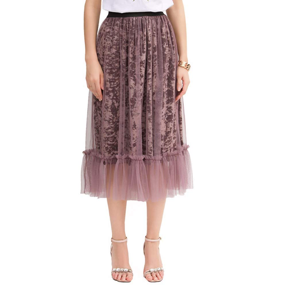 purple ZPSPZ skirt HalfLength Skirt