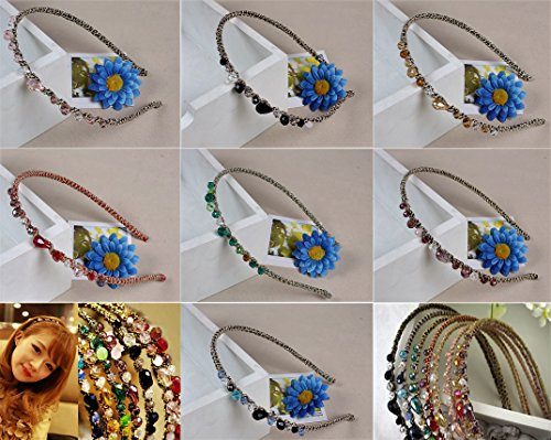 ZaoProteks ZP2801 Headbands for Girls, Women (7 different colors with gemstone) ()