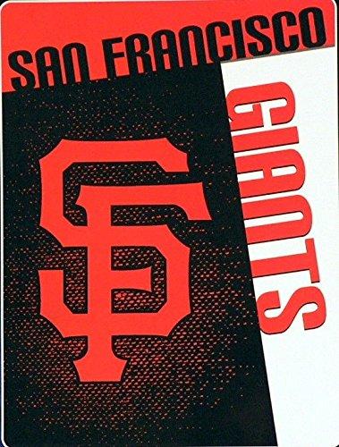 San Francisco Giants Throw - The Northwest Company MLB San Francisco Giants Speed Plush Raschel Throw Blanket, 60x80-Inch