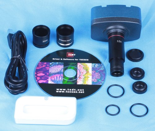 TUCSEN 10.0 MP USB CMOS MICROSCOPE DIGITAL COLOR CAMERA EYEPIECE AND VIDEO SYSTEM by Tucsen