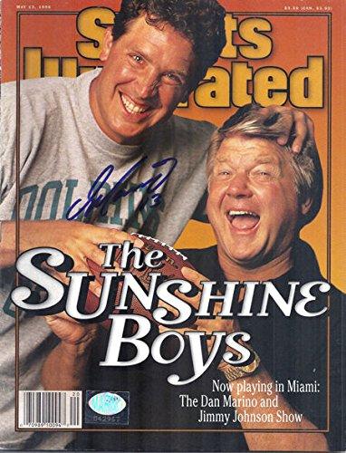 Dan Marino Autographed Miami Dolphins Sports Illustrated (5/13/1996) w/Jimmy Johnson