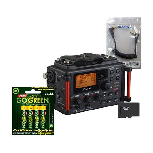 - Tascam DR-60D MKII Recorder, Bundle w/BeachTek SC35 3.5mm Cable, and 16GB Card
