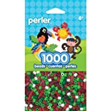 Perler 80-15134 Beads Christmas Mix 2 Bead Bag, 1000-Count