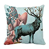 Turquoise Deer In Mushroom Forest 2 Throw R9ffd52b204bc42509ff72504037a5121 I5fqz 8byvr Pillow Case
