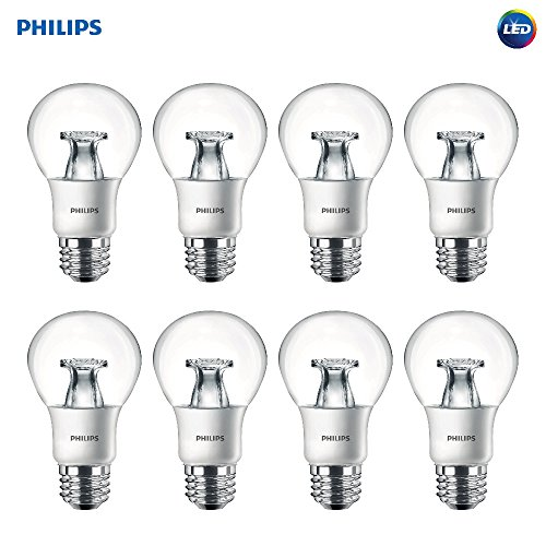 Sunlight Led (Philips LED A19 Non-Dimmable 800-Lumens 8.5-Watt Light Bulb with E26 Medium Base, Soft White, 8-Pack)