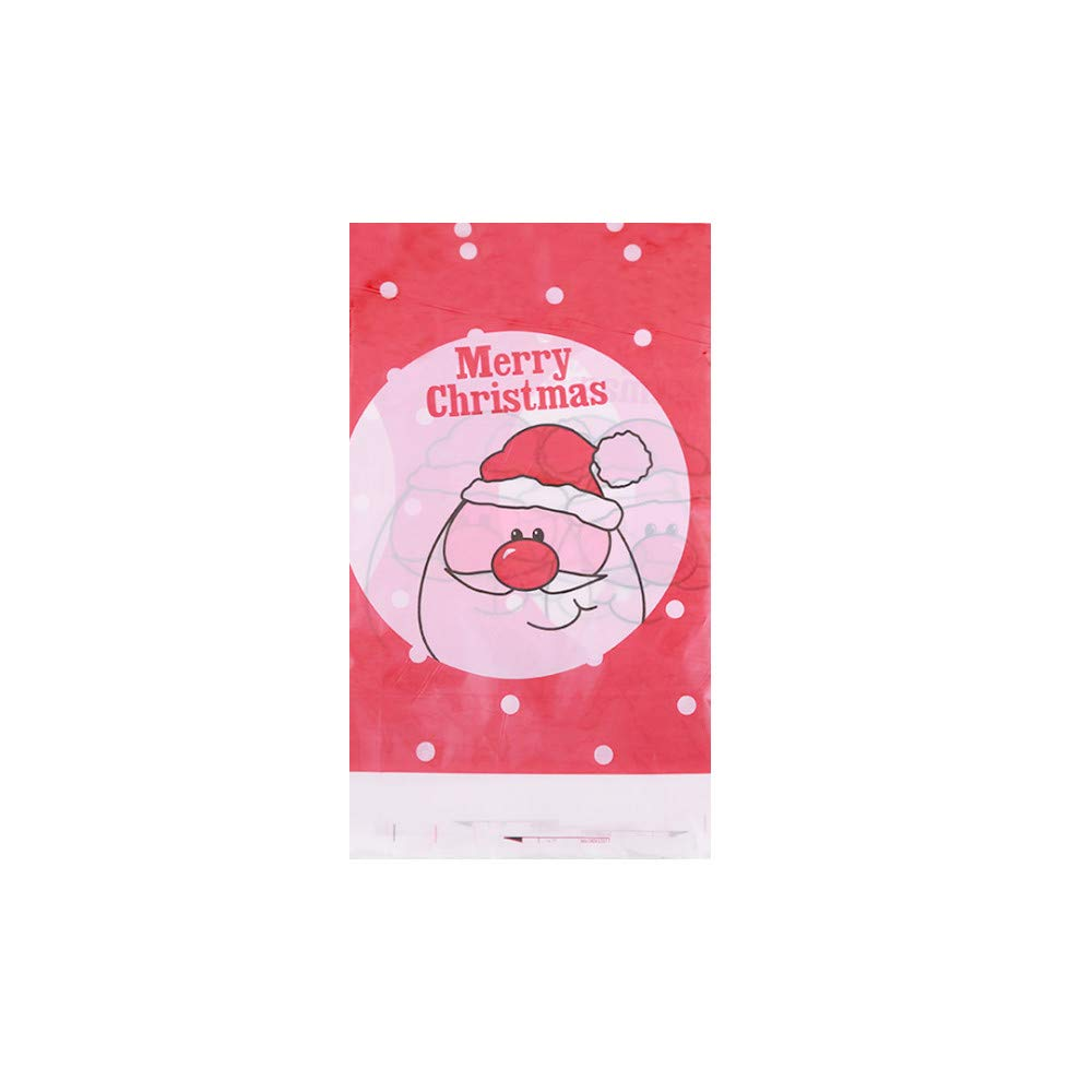 LiPing 180×180CM(71×71in)Merry Christmas Printed Waterproof Disposable Plastic Table Cloth Square Table Cover (F)
