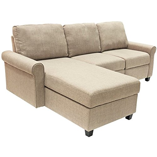 Left Chaise Sectional - Serta Copenhagen Reclining Sectional with Left Storage Chaise - Oatmeal
