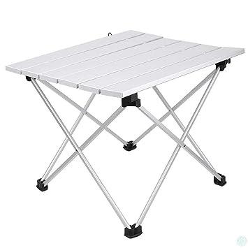 Mesa plegable CFJJOAT, mesa de aleación de aluminio para camping ...