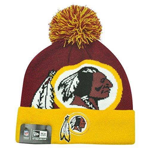ファントム懇願する願望Washington Redskins New Era NFL Woven Biggie 2 Cuffed Knit Hat Chapeau