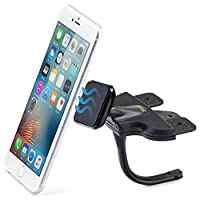 Magnetic Smartphone CD Mount - iKross Universal In-Car CD Slot Mount Cradle Holder For iPhone, Smartphone with 360 Rotation - Black