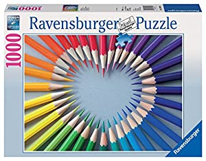 Ravensburger 19390 - Buntstiftherz, 1000 Teile Puzzle