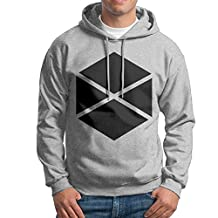 Men Destiny Titan Logo Hooded Sweatshirt Ash