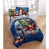 Disney Marvel Avengers Assemble 4pc Twin Bedding Comforter & Sheet Set