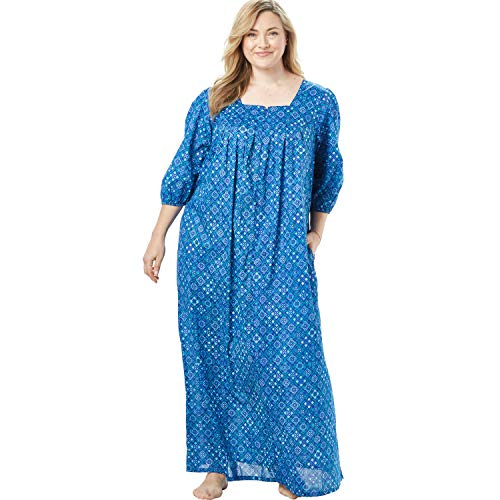 Only Necessities Women's Plus Size Print Lounger - Waterfall Geo, 3X