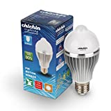 ChiChinLighting® E26 LED Motion Sensor Light Bulb 8 Watts 60w Incandescent Replacement Warm White 2750k E26 Motion Detector Bulb Garage Basement Hallway Washroom Smart Light Bulb