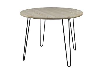 Table rétro Hairpin Legs ronde, 100 cm x 77 cm, table en bois, Table ...