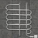 LI 80W Towel Warmer 304# Stainless Steel Mirror Polished Drying Rack Wall Mount , 110-120V