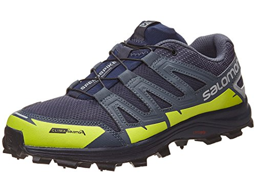 Salomon Unisex Speedspike CS Athletic Sneakers, Navy, Mesh, Rubber, 6.5 M by Salomon