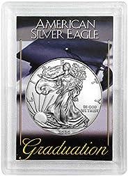 "2020 - American Silver Eagle in""Graduation"" Holder Dollar Uncirculat"