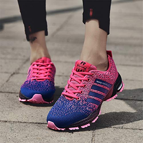 KUBUA Womens Running Shoes Trail Fashion Sneakers Tennis Sports Casual Walking Athletic Fitness Indoor and Outdoor Shoes for Women F Purple Women 5 M US/Men 4 M US by KUBUA (Image #3)