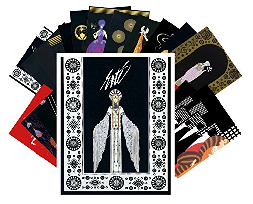 Postcard Set 24 cards Erte Art Deco Vintage Painting