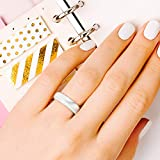 ROQ Silicone Wedding Ring For Women, Set of 4