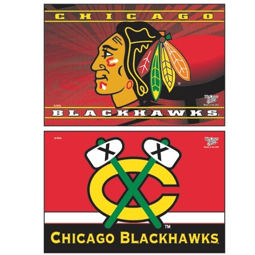 Nhl Magnets (WinCraft NHL Chicago Blackhawks WCR06137051 Rectangle Magnet (2 Pack), 2