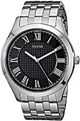 Guess Men's Stainless Steel Casual Bracelet Watch, Color: Silver-tone (Model: U0476g1)