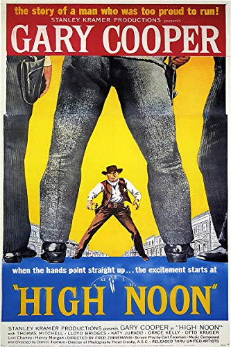 Gary Cooper Movie Poster - American Gift Services - High Noon Vintage Gary Cooper Movie Poster - 24x36