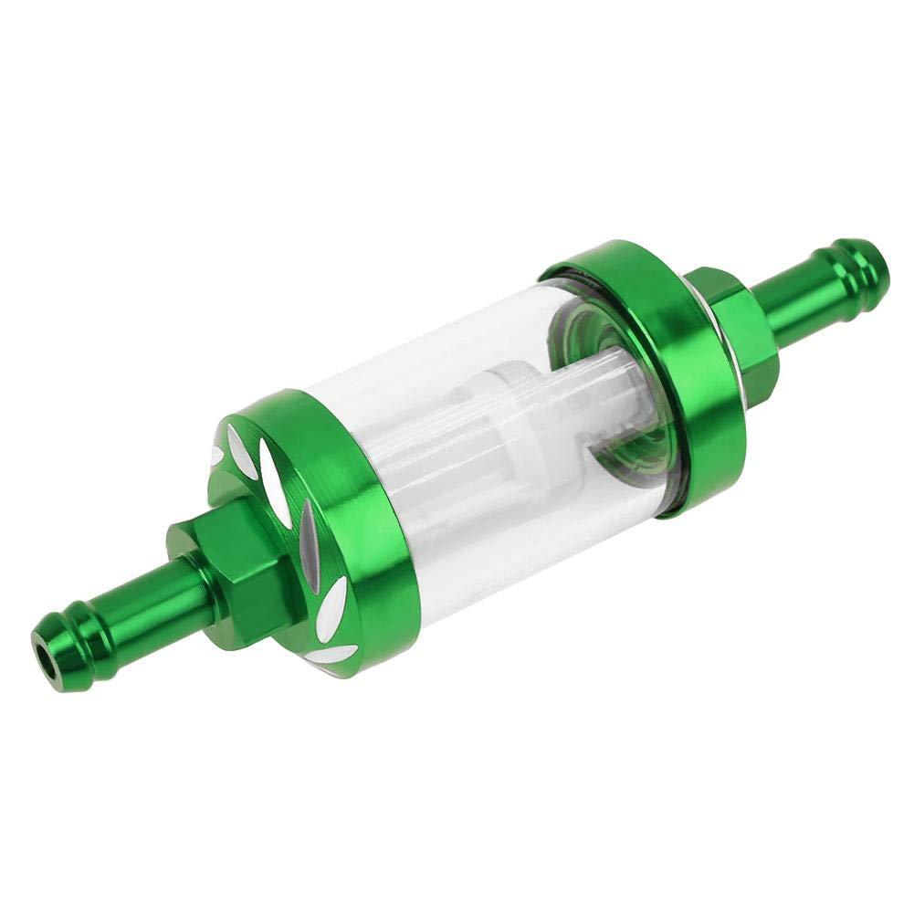 Asiproper 8/mm in lega di alluminio CNC gas olio combustibile filtro per ATV Dirt Pit Bike motocross