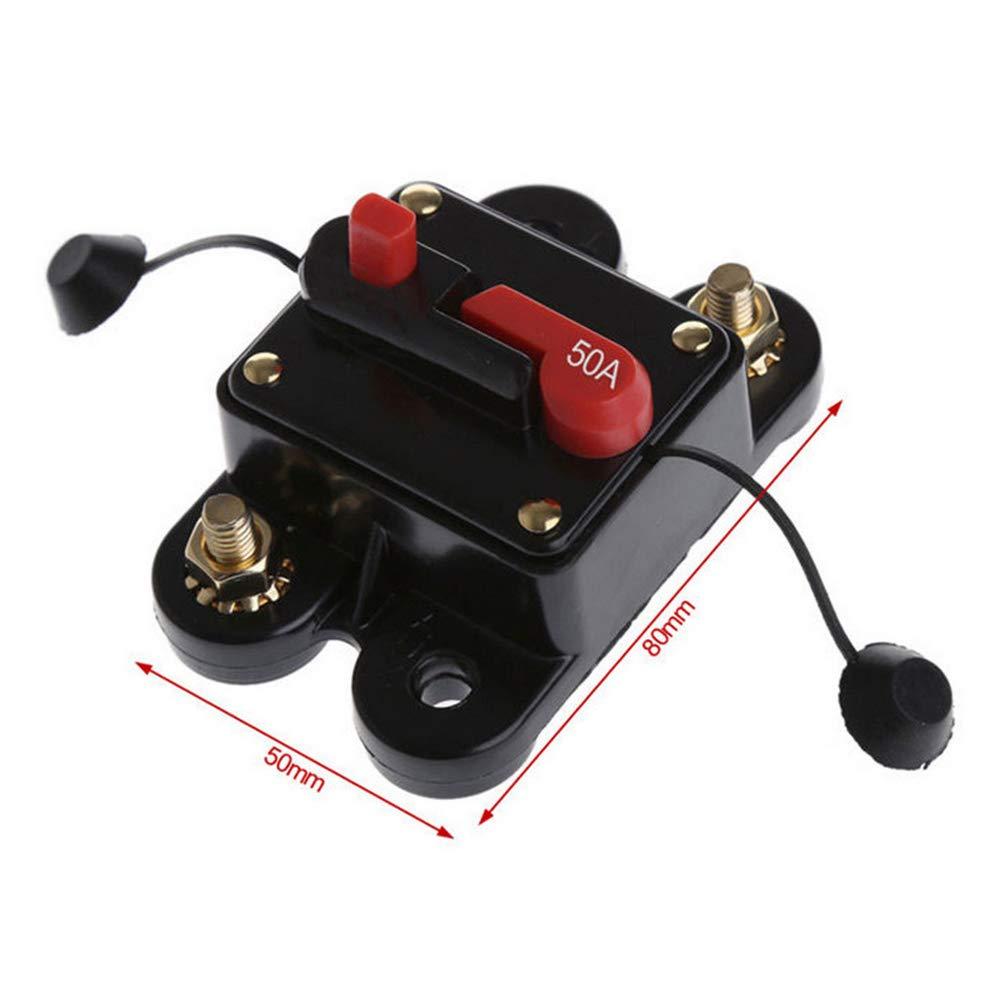 Supmico 12V 200A Kfz Audio Inline Leistungsschalter Sicherungshalter Schutz Stereo Sicherung zur/ücksetzen Reset Schnell