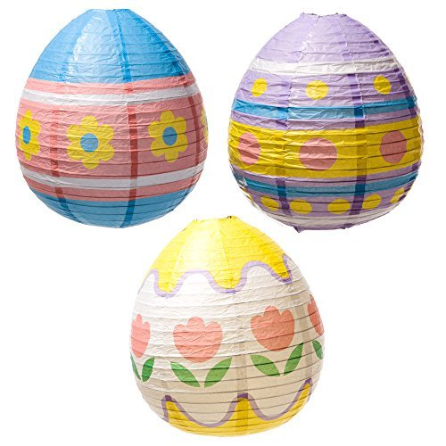 Fun Express Easter Egg Lantern Decorations by Century Novelty (Easter Lanterns)
