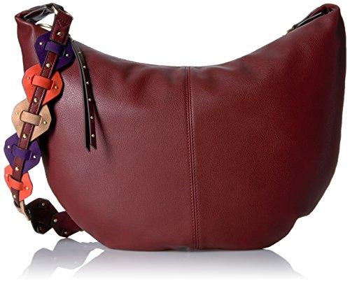 Neuf West60447915 - Anwen, Borsa Hobo Grande Donna Russet / violet / orange / chameau foncé