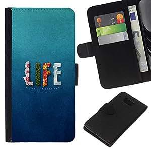 NEECELL GIFT forCITY // Billetera de cuero Caso Cubierta de protección Carcasa / Leather Wallet Case for Samsung ALPHA G850 // Altibajos VIDA