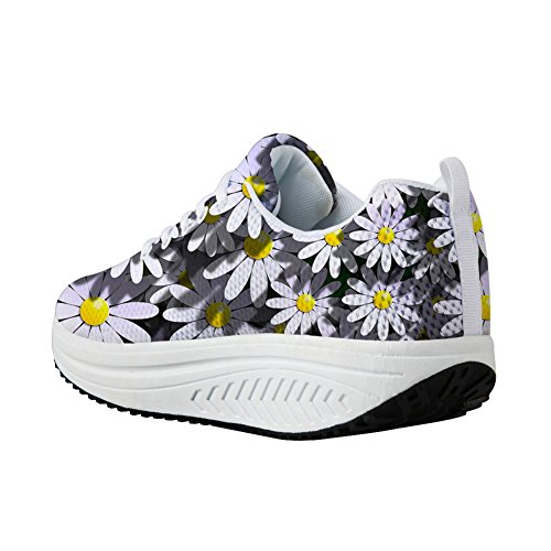 Wedges Women Casual U DESIGNS Stylish Flats Daisy Platform Shoes Shoes Height Slimming FOR Increasing Swing FqZRSOSw