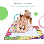 TOWERPRO Large Water Painting Drawing Writing Board Doodle Mat Magic Pen Toy + 2 Magic Pens for Baby Kids Gift, 31.5 X 23.6 Inches (Four-color)