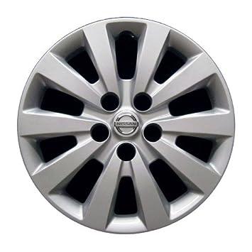 OEM Nissan rueda cover - profesionalmente refinished como nuevo - 16 in de repuesto tapacubos para 2013 - 2017, Sentra: Amazon.es: Coche y moto