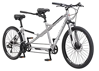"Schwinn Twinn Tandem Large Bicycle, 26"" Wheels, Grey"