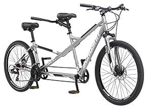 "Schwinn Twinn Tandem 26"" Wheel Bicycle, Grey, One Frame Size 20"""