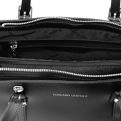 TUSCANY LEATHER, Borsa a mano donna nero nero Taille Unique
