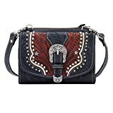 7694982 American West Women's Texas Two Step Purse - Navy Blue
