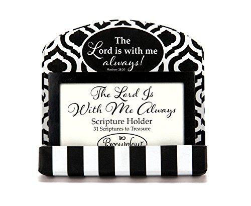 Scripture Card Holder (Brownlow Kitchen Gifts Scripture Card Holder, The Lord is with Me)