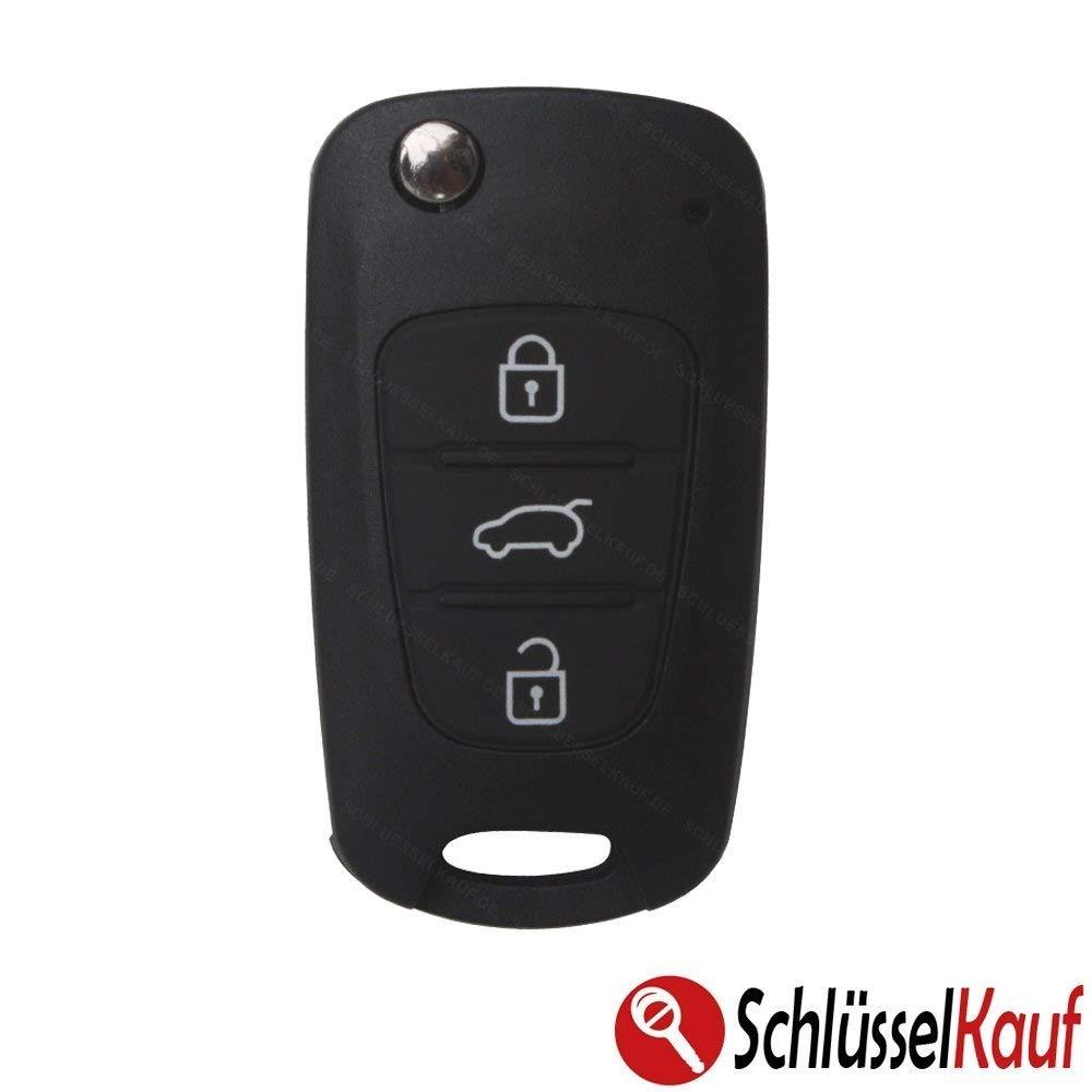Kia Key Casing Key Remote Flip Key 3Buttons–suitable for: Rio, Venga, Cee'd, Pro Cee'd, Picanto, Sorento, Sportage, Soul