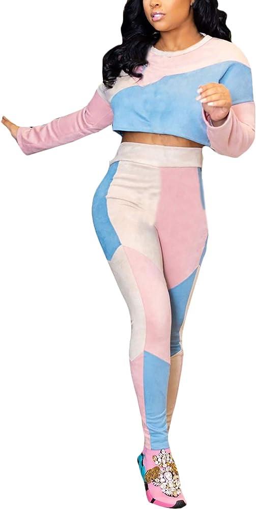 Mujer Ropa Casual Crop Top Y Pantalones Dos Piezas Set Vintage ...