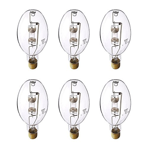 Sylvania ED37 400W Clear Metal Halide Lamp E39 Mogul Screw Bulbs, 6 Pack | - Lamp Halide Ed37 Metal